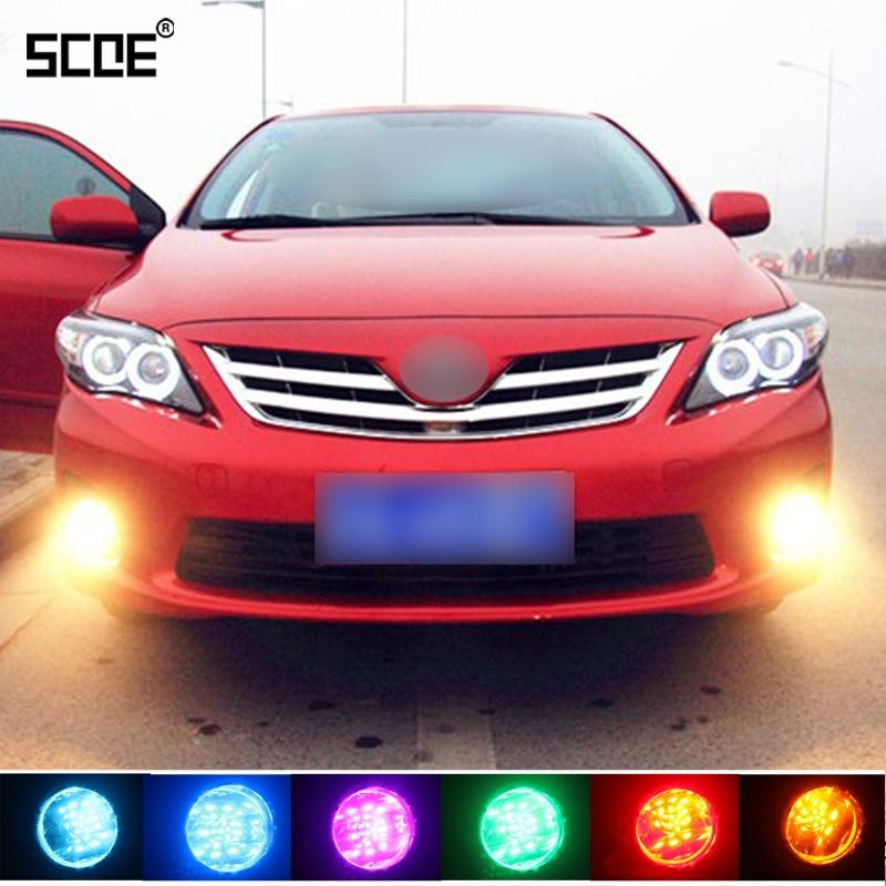 цена на SCOE For Seat Altea(XL),Cordoba,Ibiza 4,Leon1 2,Toledo 1 3 48SMD 2 Pcs Front Fog Bulb Light Source Car Styling Parking