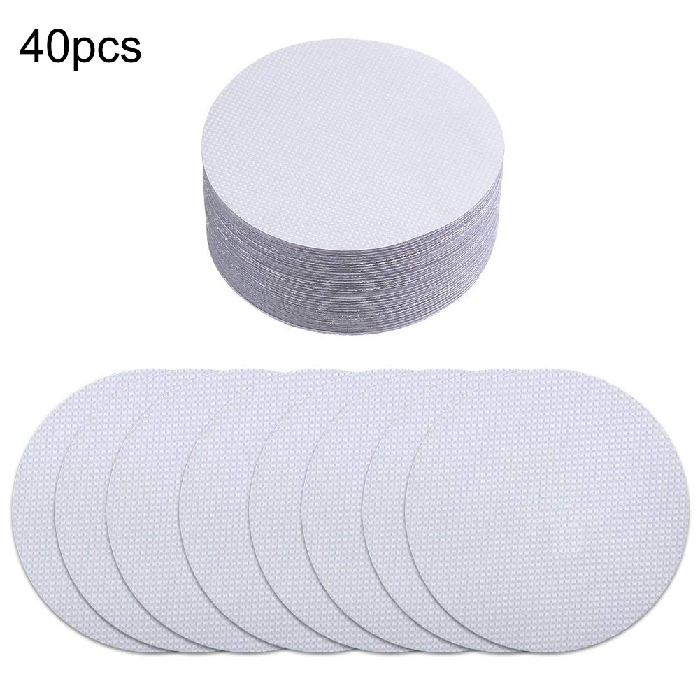 40pcs Non-Slip Mat Safety Bath Tub Shower Floor Sticker Applique Bathroom Accessories Anti-Slip Bath Grip Stickers Peva Round