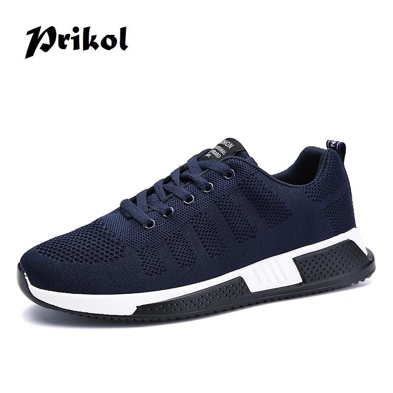 Prikol Street Style Cool Men Sport Shoes Spring Breathable Men Shoes Hombre Tennis Footwear Scarpe Trainers