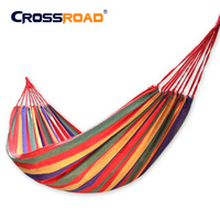 CROSSROAD Single 190x80cm Canvas Hammock High Quality Portable Outdoor Garden Travel Camping Swing Student Dormitory Hammock