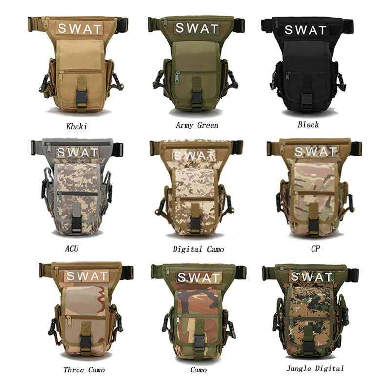 real multifuncional swat paquete de la cintura bolsa de pierna táctico deportes