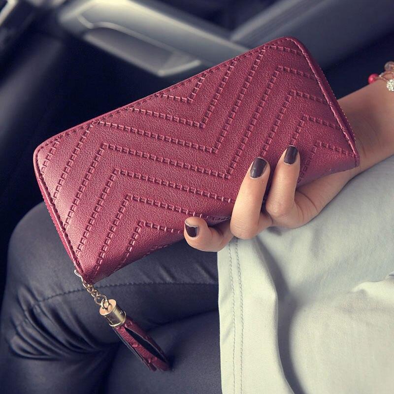 Fashion New Hot Women Tassel Wallet  Credit Card Phone Holder Money Long Arrow Clutch W1696