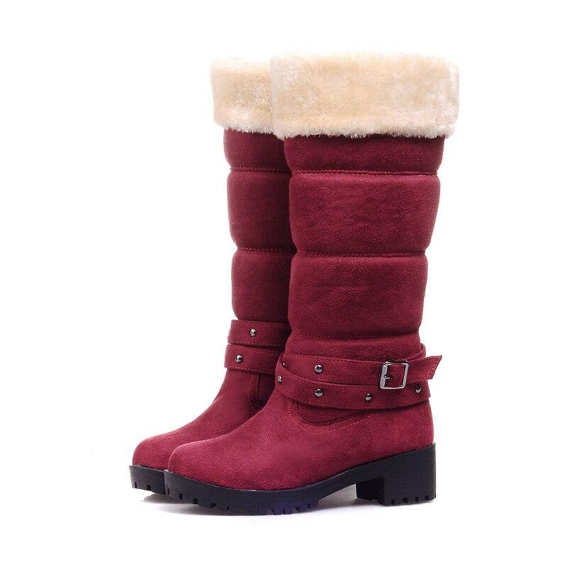 Botas negro Mujer 34 Al Beige De Media Invierno 43 Pantorrilla Moda Grande rojo Caliente azul Zapatos Venta Nieve Por Felpa Talla Sarairis 2018 Mayor O1fXvqAAn