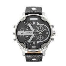 Marque de luxe cagarny hommes montres montre bracelet en cuir montre à quartz reloj hombre militaire sport dz mâle horloge festina pour hommes
