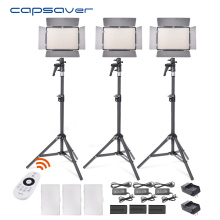 capsaver TL-600A LED Video Light Kit Adjustable Bi-Color Fotografi Pencahayaan 2.4G Remote Control NP-F750 Baterai + Charger