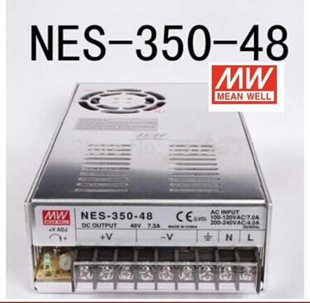 Mean Well Switching Power Supply 350W 48V 7.3A NES-350-48 Nema 23 Stepper Motor Switch Power SupplyMean Well Switching Power Supply 350W 48V 7.3A NES-350-48 Nema 23 Stepper Motor Switch Power Supply