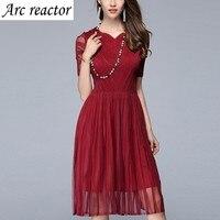 Dress Heart-shaped Collar Folds Gauze Elegant Temperament Party Dress Super Elastic Summer Dress Plus Size One Size 5XL 4XL XXXL