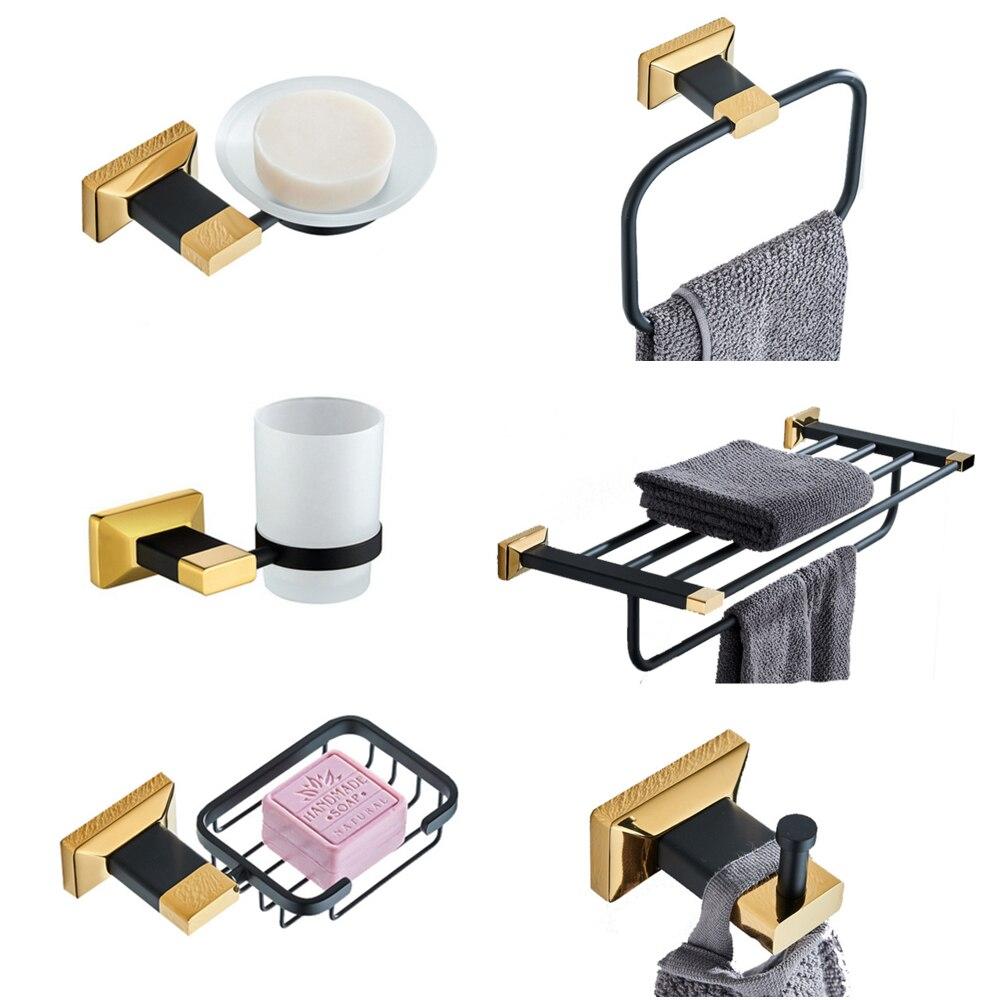 Set Sollid Br Toilet Brush Holder
