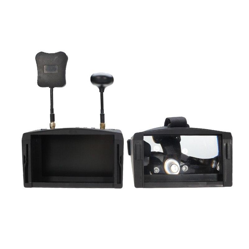 En Stock!! Eachine EV800D 5.8G 40CH 5 pouces 800*480 casque vidéo HD DVR diversité FPV lunettes avec batterie pour modèle RC - 3