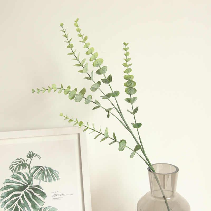 75 см 5 веток эвкалипта INS искусственный цветок растение денежный лист Декор для дома свадебный Настольный цветок растение стена Рождественская елка