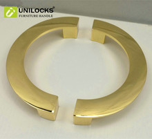 UNILOCKS Kitchen Cabinet Drawer Pull Door Gold Mirror Handle and Knobs Semicircle Handles
