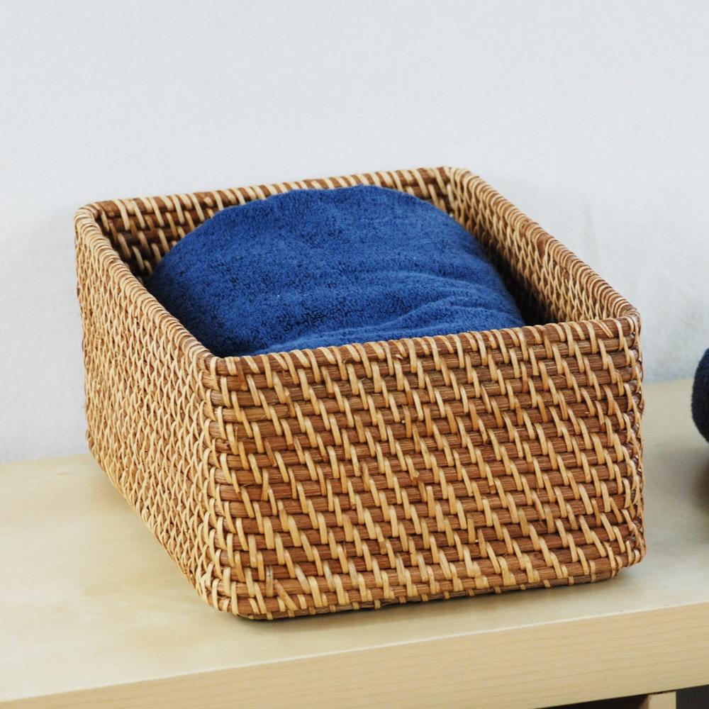Rectangular Storage Baskets Storage Basket Of Imported Natural Rattan  Basket Storage Box NEW In Storage Boxes U0026 Bins From Home U0026 Garden On  Aliexpress.com ...