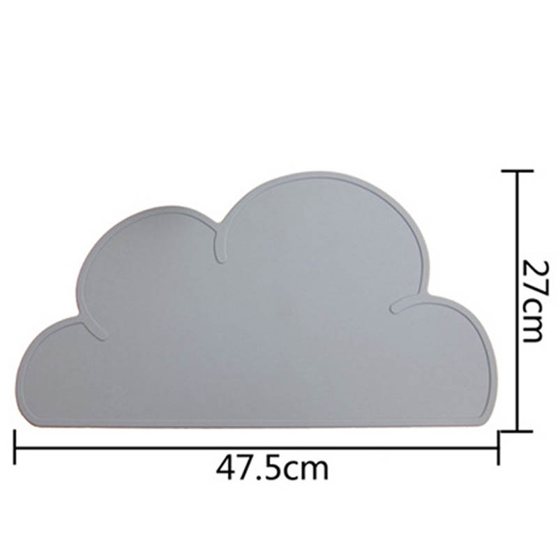 Cloud Shaped Silicone Placemat Waterproof Anti Scald Set Bar Mat Baby Kids Plate Mat Table Mat Home Kitchen Pads