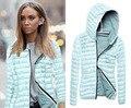 Novas Mulheres Moda Casual Do Vintage Cap Botton Cardigan Outerwear de Algodão Com Capuz Jaqueta Femininas Blusas Blusa Quente Para Baixo Casacos