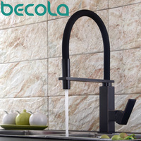 Becola New Design Black Antique Brass Kitchen Faucet Pull Out Down Kitchen Mixer 360 Swivel Sink