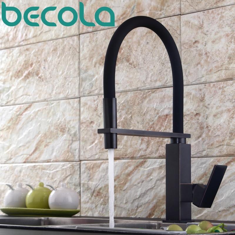 Becola nouveau design noir antique en laiton cuisine robinet Pull Out Bas Cuisine Mélangeur 360 Pivotant Évier Robinet B-9204B