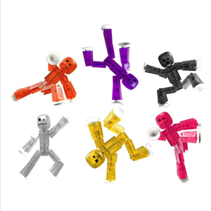 Image 5 - 20pcs/lot Colors Randomly sending cute Sticky Robot Sucker Suction Cup funny Movable action figure toys