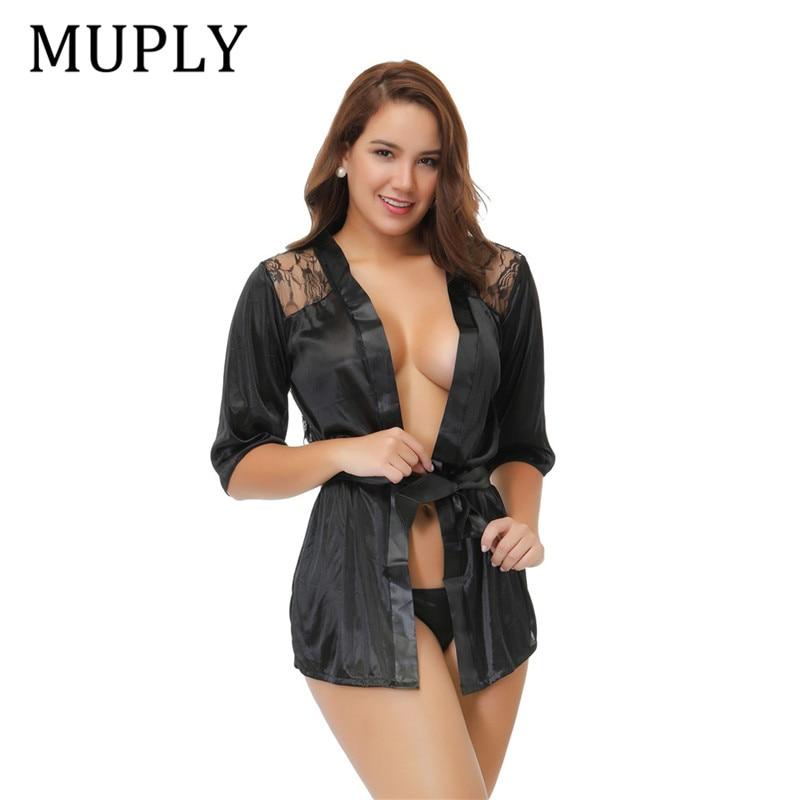2020 New Women Erotic Underwear Hot Sexy Lingerie Black Intimate Sleepwear Robe Sexy Night Gown Lenceria Sexy Nuisette Babydoll