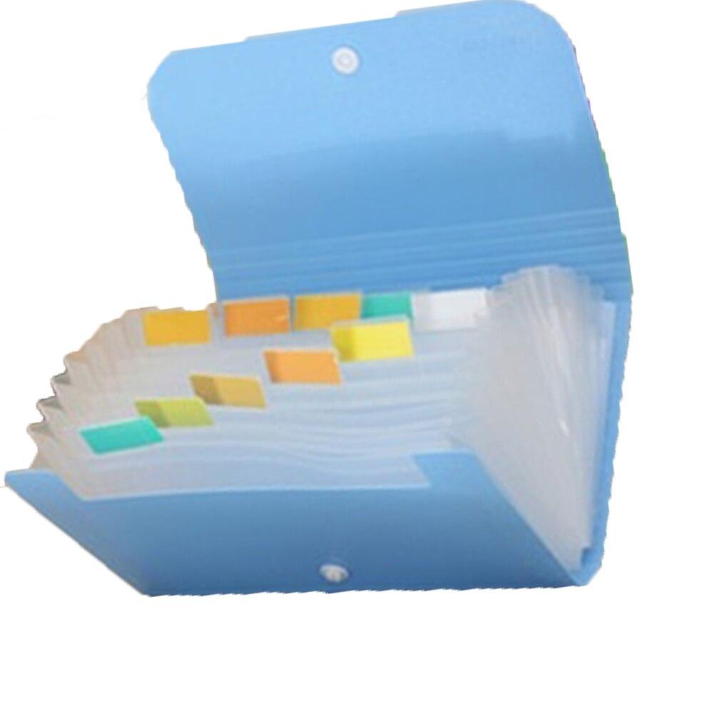 1pc Plastic candy color Document bag file folder Expanding wallet ...