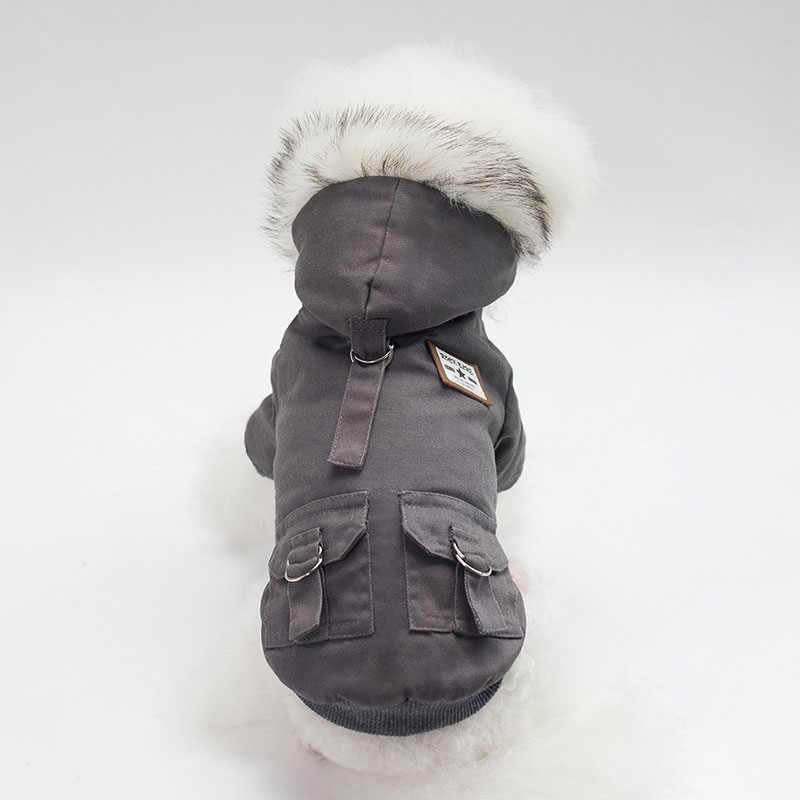 2018 New Winter Pet Cat Clothes Windproof Waterproof Puppy Dog Cat Coat Jacket Military Style Kitty Cat Clothing S M L XL XXL