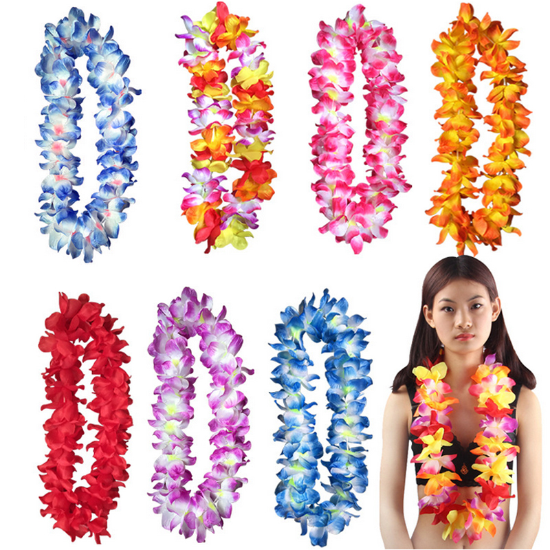 Diameter 11CM Hawaii wreaths skirt clothing accessories festivals artificial simulation rosette beach seaside