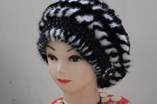 Бесплатный шопинг натуральный мех норки кролик cap hat женщины зима