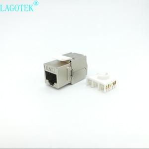 Image 5 - RJ45 Keystone, cat 6a/7, sans outils, Module en alliage de Zinc, blindé, adaptateur pour réseau, 10 go