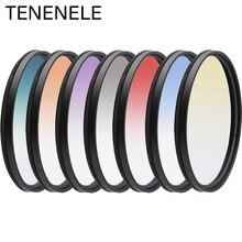TENENELE Gradient สีกล้องกรอง 46 49 52 55 58 62 67 72 77 82 มิลลิเมตรตัวกรองเลนส์สำหรับ Nikon sony Canon Pentax Fuji กล้อง DSLR