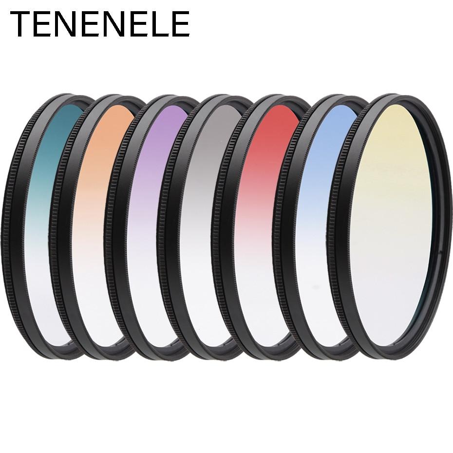 Фильтр TENENELE для камеры 46 49 52 55 58 62 67 72 77 82 мм, градиентные фильтры для объектива камеры Nikon Sony Canon Pentax Fuji DLSR
