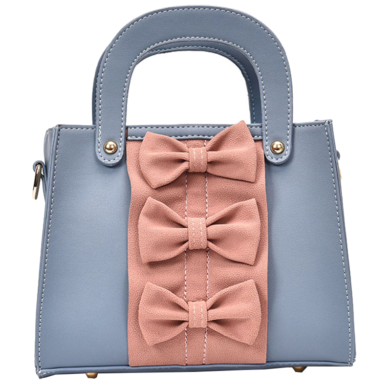 2017 New Bow Tie Small Square Handbag Shoulder Bag Fashion Small Square Package High Quality Messenger Bag  Lady Rivets Bag Sac every new small package special offer hit color box package fashion lock small bag shoulder bag in early autumn