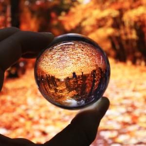 1pc Reine Klare Runde Transparent Glas Kristall Ball Healing Kugel Fotografie Requisiten 50mm