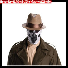 High quality New Rorschach Masks Balaclava Watchman Cosplay Costume Halloween Headgear Comic Full Face Mask adults size in stock