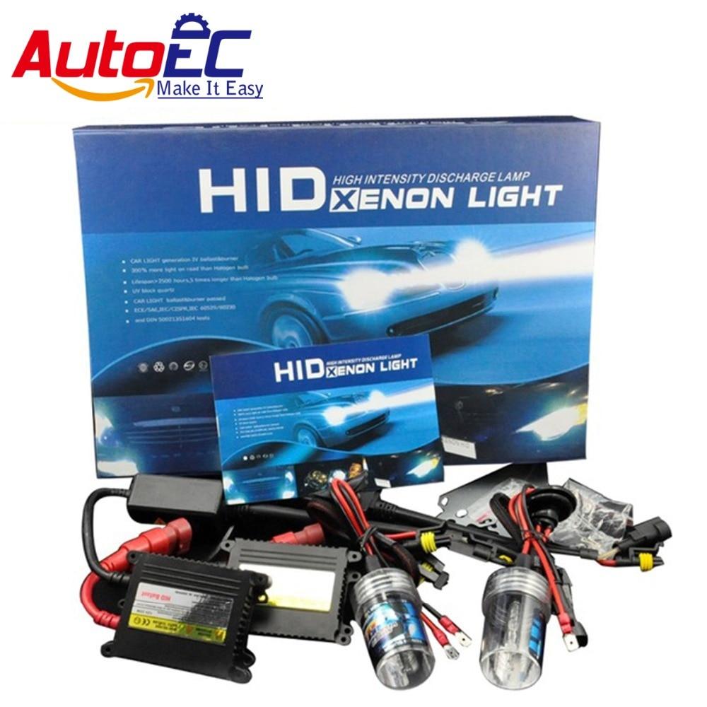 AutoEC Xenon HID Kit Car Headlight Slim Ballast 35W H1 H3 H7 H9 H10 9006 Xenon Bulb 4300K 6000K 8000K 10000K 12000K 12V #LM20 55w hid xenon kit silver slim ballast h9 12000k replacement headlight spare bulb [cpa219]