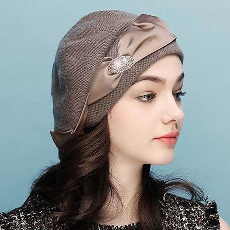 Winter Hat Women 2018 New Wool Cashmere Womens Warm Brand Casual H