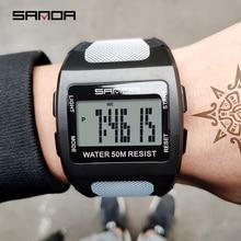 SANDA Mens Sports Watch Fashion Simple Digital Waterproof LED Electronic Clock Reloj Hombre