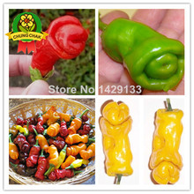 Home Garden Hot Sale Penis Chili Red Hot Peter Pepper seeds 200pcs Vegetables Fruit Seed Sweets Farm Funny Peppers Bonsai plants