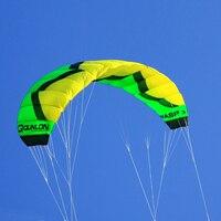 Professional Trainer Kite for Kitesurfing Kiteboarding Green 3 Sqm Outdoor Sport Quad Line Power Stunt Kite