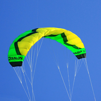 Professional Trainer Kite for Kitesurfing Kiteboarding Green 3 Sqm Outdoor Sport Quad Line Power Stunt Kite