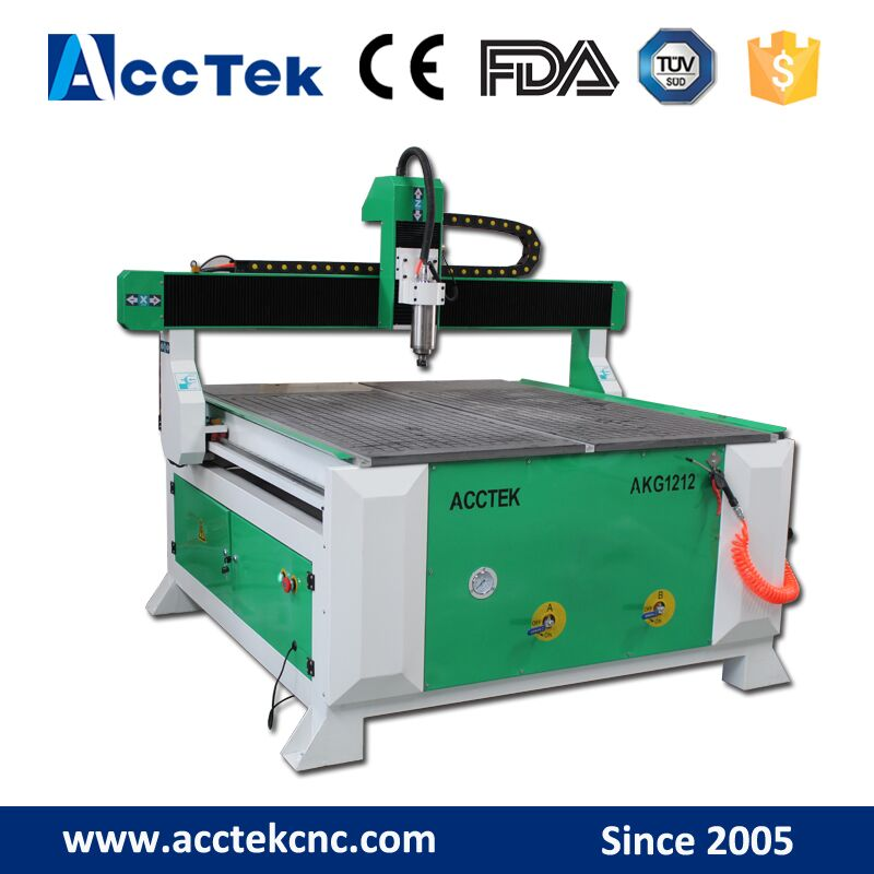 Us 3153 0 Acctek Excellent Quality Cnc Wood Furniture Machine 1212 Lathe Woodworking Machinery With Rotary In Wood Routers From Tools On