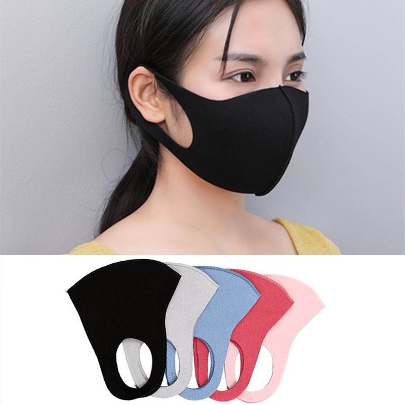Mouth Mask Breathable Unisex Sponge Face Mask Reusable Anti Pollution Face Shield Wind Proof Mouth Cover Flu Fabric Respirator