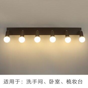 Kare Ayna ön ışık LED Banyo Duvar Lambası Yatak Odası Dresser Soyunma Ampul Ampul Su Geçirmez Sis 3/5/ 6 Kafa LU626 ZL146