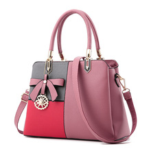 2017 neue Frauen Handtasche Hohe Qualität PU Patchwork Frauen Messenger Bags Bogen Dekoration Schulter Crossbody Taschen Für Weibliche Damen