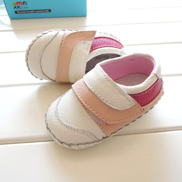 2017 omn suave antideslizante primeros caminante infantil de los bebés zapatos genuinos niño de cuero suave envío gratis
