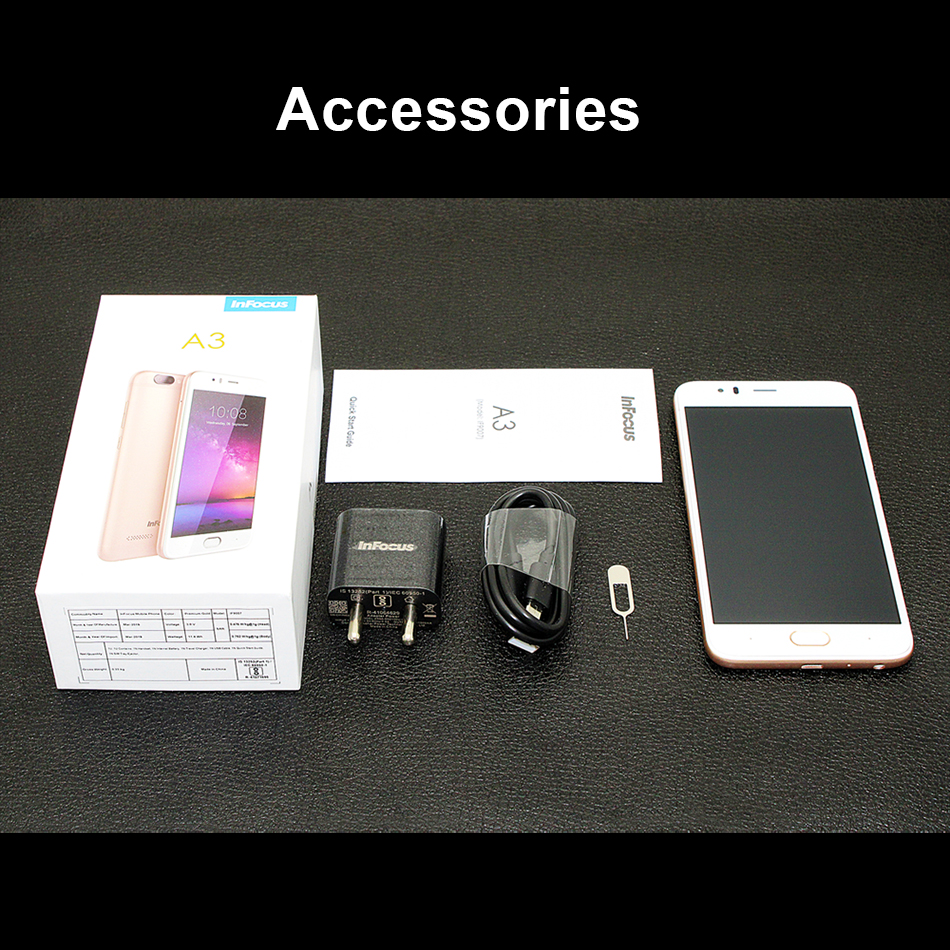 """Image 5 - Infocus A3 mobile phone 5.2"""" LTE 4G smartphone 2GB +16GB 3050mAh Quad core phones fingerprint Dual came Android 7.0 cell phones-in Cellphones from Cellphones & Telecommunications"""