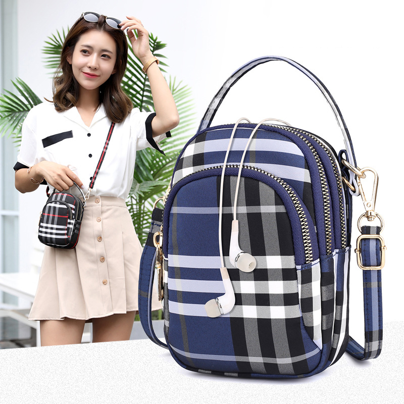 Women's mini bag trend single shoulder Messenger bag factory direct light waterproof nylon cloth bag mobile phone key bag 1