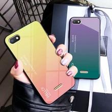 лучшая цена Redmi 6 6A case Tempered Glass silicone cover 5.45