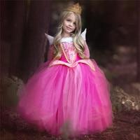 Dollbling Dollbling Princess Girl Elsa Dress Sleeping Beauty Halloween Costume For Kids Children Clothing Girl Aurora