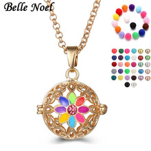Belle Noel 2Color Angel Ball Necklace Essential Oil Diffuser Locket Pendant H-038