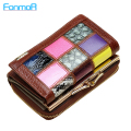 Hot 2016 New Fashion Genuine Leather Women Wallet Candy Color Splice Lady Wallets Mobile Bags Handbag Coin Purses Clutch