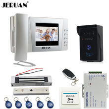 "JERUAN Home wired 4.3"" LCD Video Door Phone intercom System Kit +touch key 700TVL RFID Waterproof IR Night vision Camera"